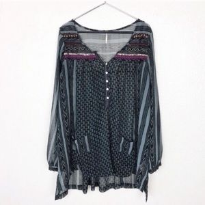Free People | Feather In The Wind Beaded Tunic M
